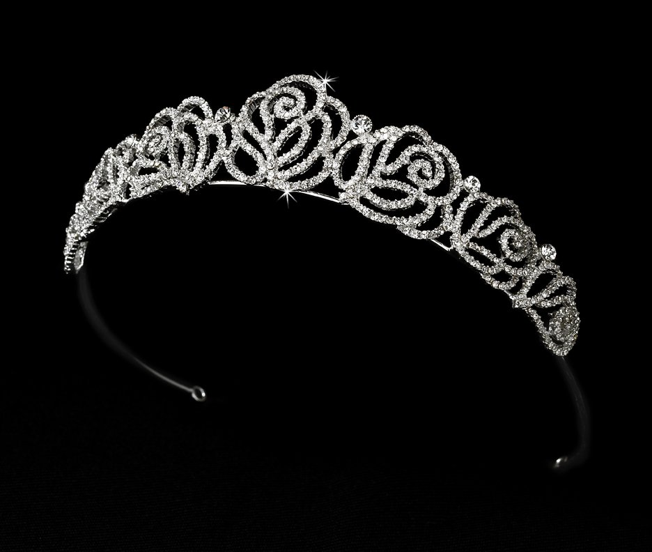 Fabulous Rose Tiara for Quinceanera, Mis Quince Anos or Prom