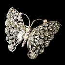Crystal Butterfly Barrette Headpiece for Wedding or Prom