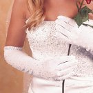 Above the Elbow Glove With Pearls for Wedding, Bridal