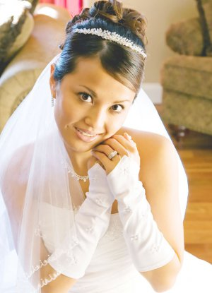 Elegant Fingerless Elbow Length Mis Quince Anos, Quinceanera, Prom Gloves