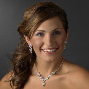 Aurora Borealis and Rhinestone Quinceanera, Mis Quince Anos, Sweet 16 Prom Jewelry
