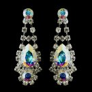 Silver Clear Crystal & AB Rhinestone Earrings