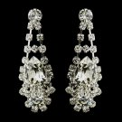 Silver Clear Crystal & Rhinestone Earrings