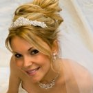 White Pearl and Crystal Wedding Tiara