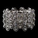 Antique Silver Crystal Stretch Bracelet for Quinceanera