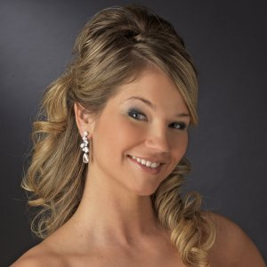 Sparkling CZ Drop Earrings for Wedding, Bridal