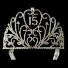Stunning Silver with Rhinestones Sweet 15, Quinceanera Tiara