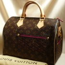 AUTHENTIC LOUIS VUITTON PERFORATED SPEEDY 30 FUCHSIA EX
