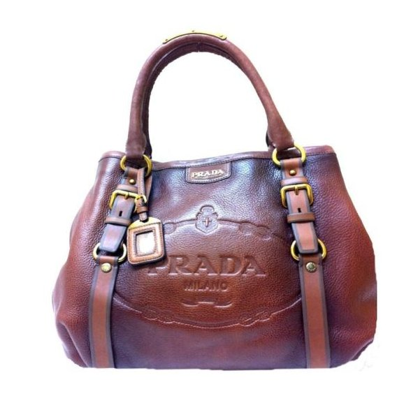 Authentic Ladies PRADA Leather Textured Handbag