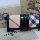 AUTH BURBERRY NOVA CHECK SNAP CLOSURE WALLET