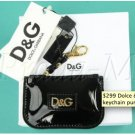 Dolce & Gabbana D&G Patent change keychain purse