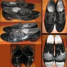 LA ROSA Black Patent Leather Tap Shoes Boys 6.5/Girls 8