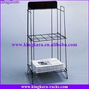 KingKara Metal wire newspaper rack