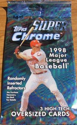 14 Packs 1998 Topps Super Chrome Baseball