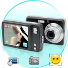 Lliira 8MP 3x Optical Zoom Digital Camera with Smile Detection and 3 Inch Touch Panel