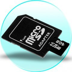 4GB MicroSD / TF Card with SD Card Slot Adapter - 5 pcs/lot