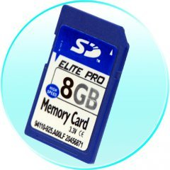 8GB SD Memory Card (Single) - 2 pcs/lot