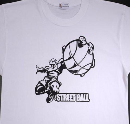 Streetball Sports T Shirts for Men, Original Package  (Men's Medium)
