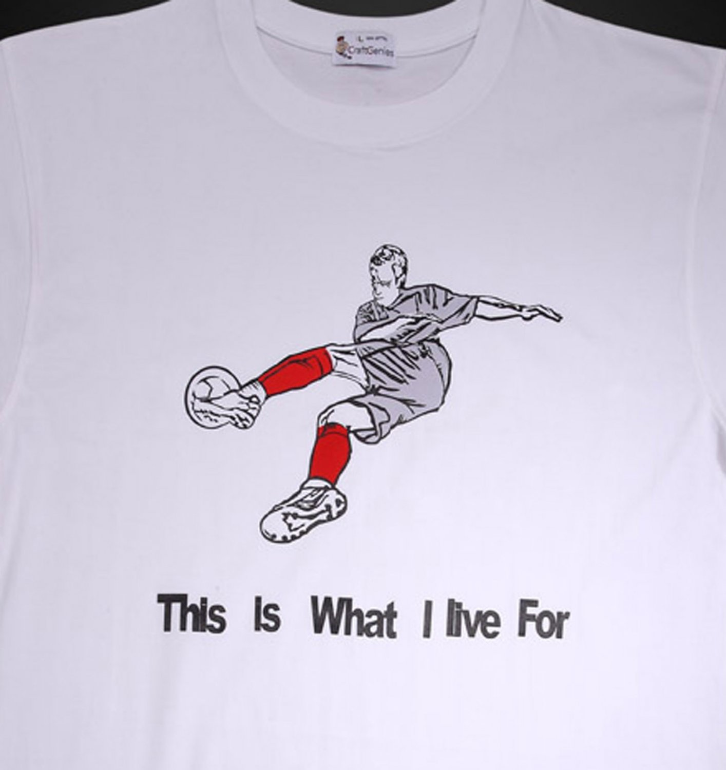 Football T Shirts for Men - Original New Package   (Men's Large)