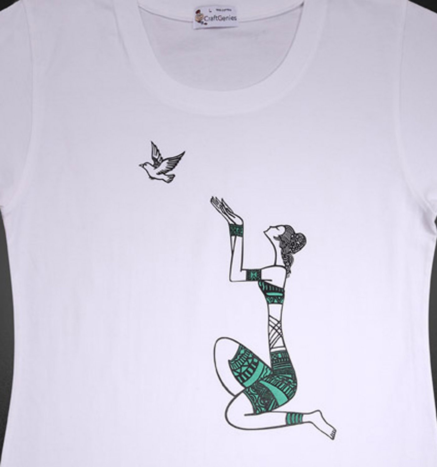 Hope & Peace T Shirt for Women, Green - New in Package!   (Women's Large)