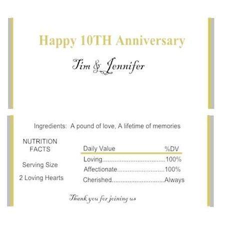 10th Anniversary Hershey Bar Wrapper