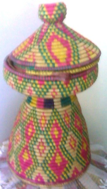 Hand Made Ethiopian Mesobe Werke Shipping included