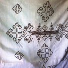 Hand made Ethiopian 100% cotton Bed Cover (Alga Lebse) King Size