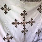 Traditional 100% cotton Ethiopian bed covering (Alga Lebse) King Size