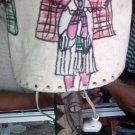 Hand Made Ethiopian leather and wood made Lamp. Free Shiping