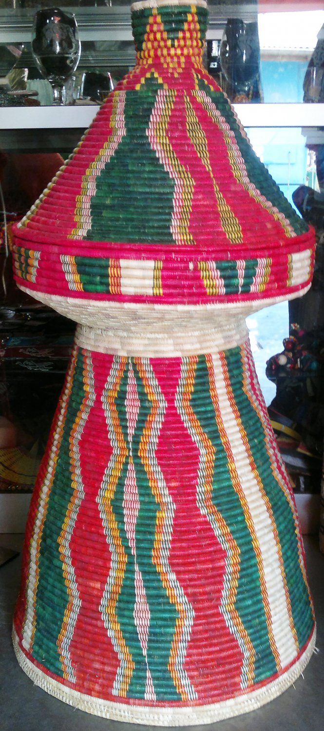 Hand Made Traditional Ethiopian Straw Made Eating Table. (Gebeta) Free Shipping