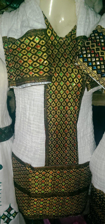 Hand Made Ethiopian (Eretrian) African,Habeshan Top. Free Shipping. BIG BIG DISCOUNT