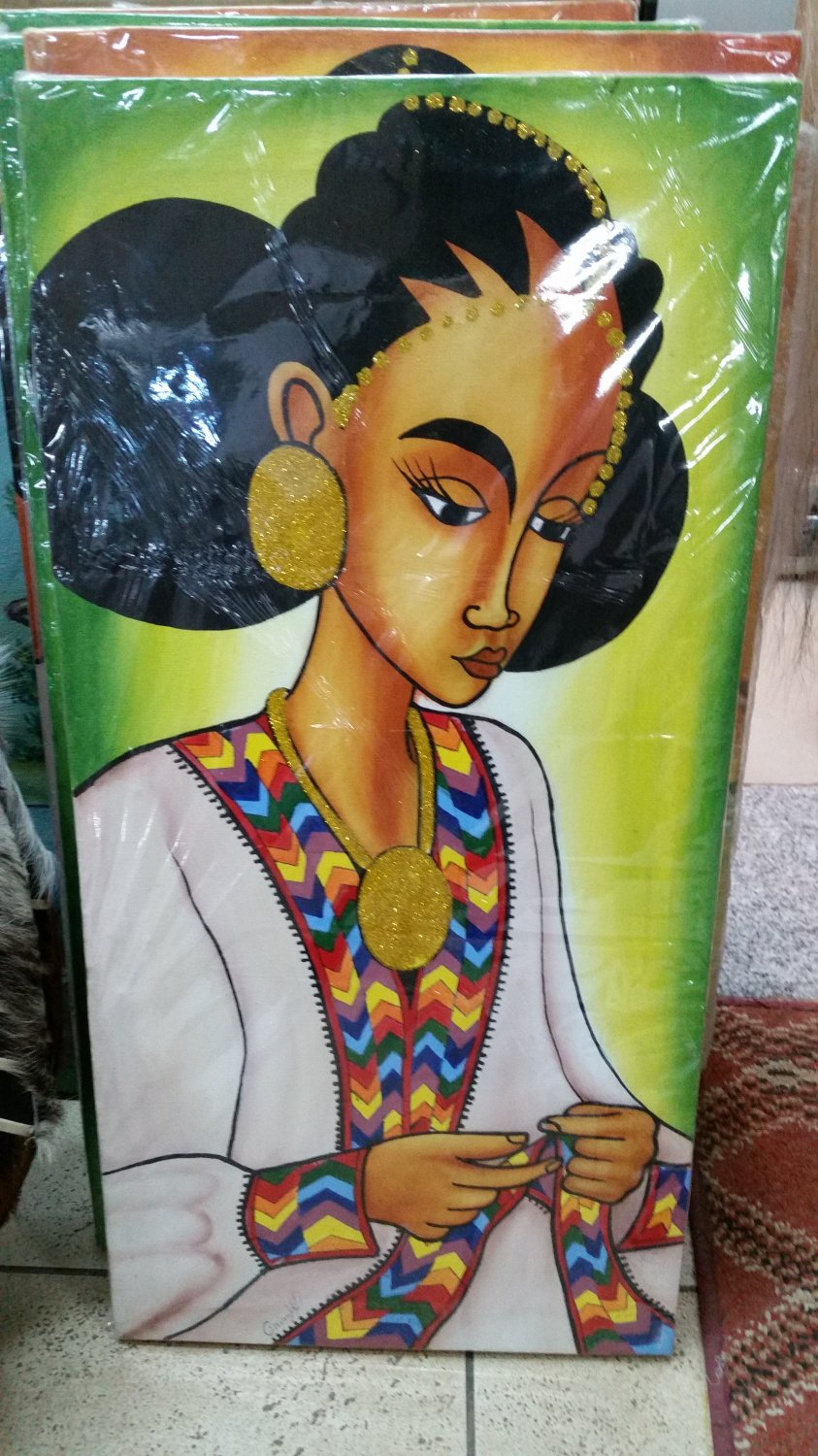 Ethiopian,Eritrean Habeshan, African Drawings and Arts Free shipping world wide  2