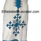 Ethiopian/Eritrean Habesan blue design Coffee dress. Free shipping world wide