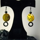 Yellow swirl earrings