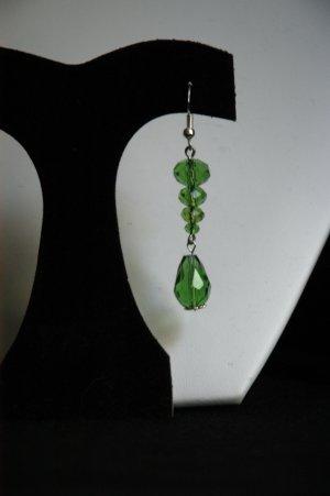 Green 2 Tier Lantern Drop Earrings
