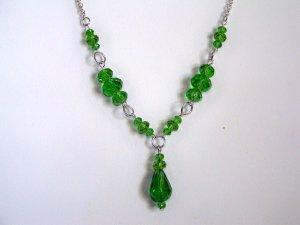 Green Single Drop Necklace