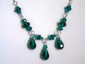 Teal Triple Drop Necklace