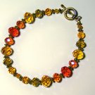 sunset glass bracelet