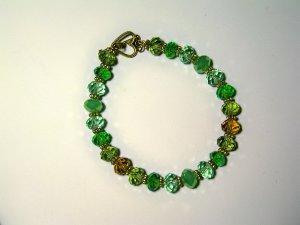 spring green glass bracelet