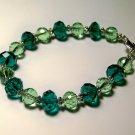 teal glass bracelet