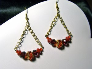 Red Swing Earrings