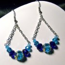 Blue Swing Earrings