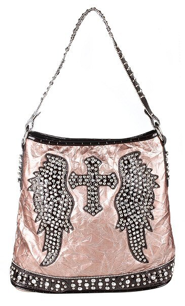 Cross/Wings Stones and Studded Bag - Each Bag