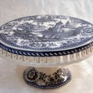 Blue and White Transferware Cake Plate