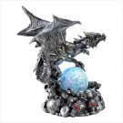 Armored Dragon With Led Globe