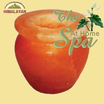 Himalayan Salt Candle Holder - Bowl Shaped