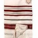 Prayer Shawl (Tallit) Burgundy & Gold trims