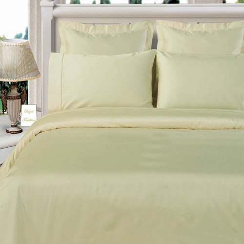 Queen Ivory Duvet Cover Set 100% Bamboo Bed Linens