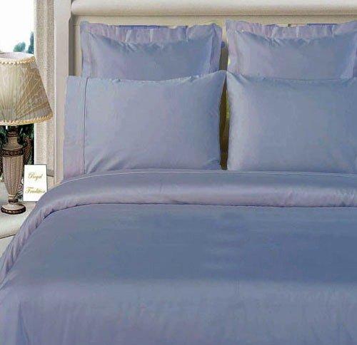 Bamboo Organic Cotton Queen Size Blue Duvet Cover Set