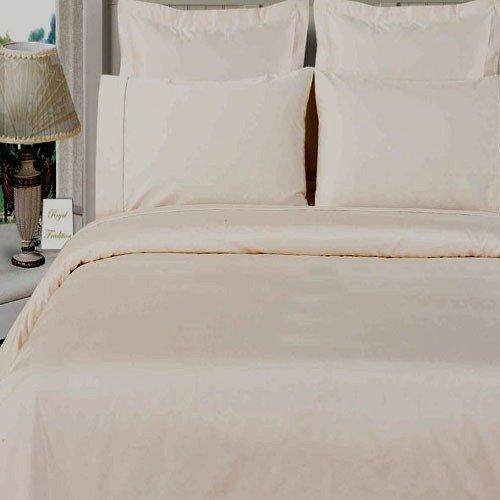 100% Bamboo Organic Cotton Full/Queen White Duvet Cover Set